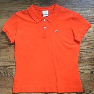 Lacoste Women's Polo Shirt- Size 46 = 14 🍊 color